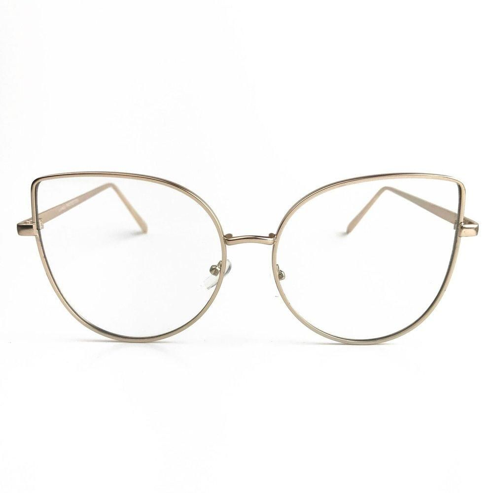 14dbedb652f Dre Clear Cateye Glasses - Gold in 2019