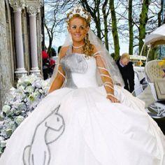 Cat-Themed Wedding Dress