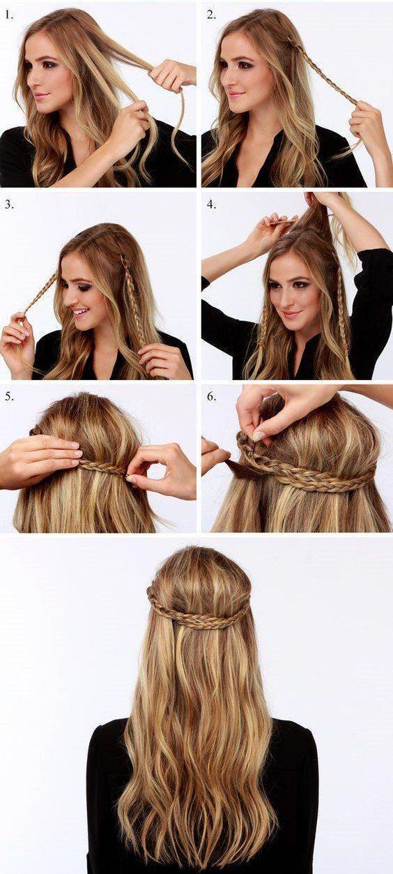 10 Peinados super sencillos de hacer que le facilitarán la vida a las chicas con cabello largo  – Peinados