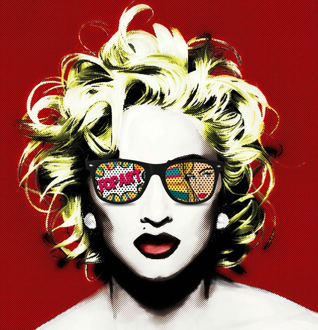 Madonna pop art design // 80's pop music // like a virgin