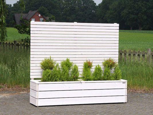 Pflanzkasten Holz Lang mit Sichtschutz, Länge: 212 cm, Höhe: 180 cm ...