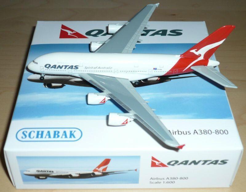 Schabak 1:600 Diecast Qantas Airbus A380-800   Toys WORLD