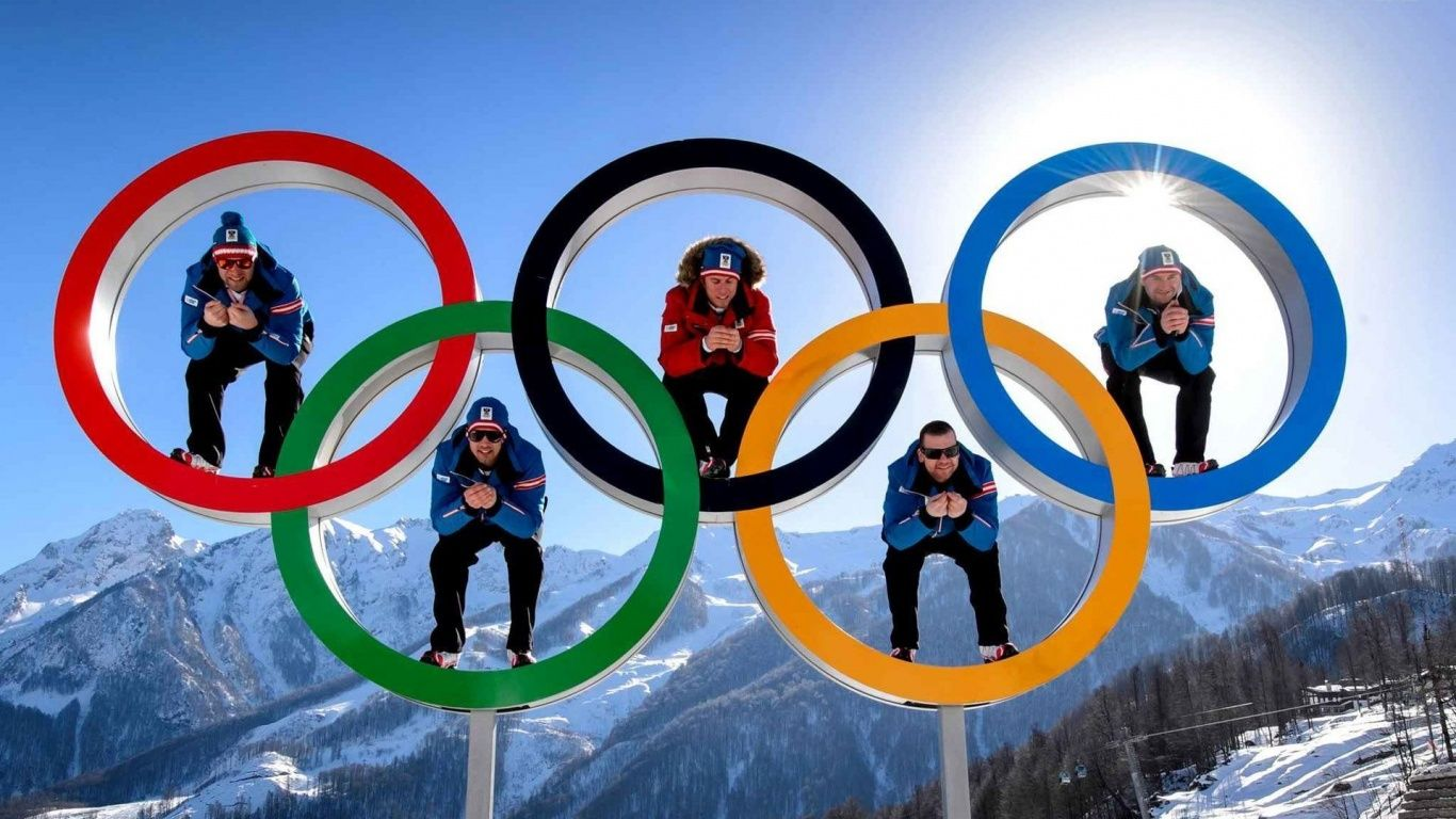 Olimpic rings 1366x768 wallpaper