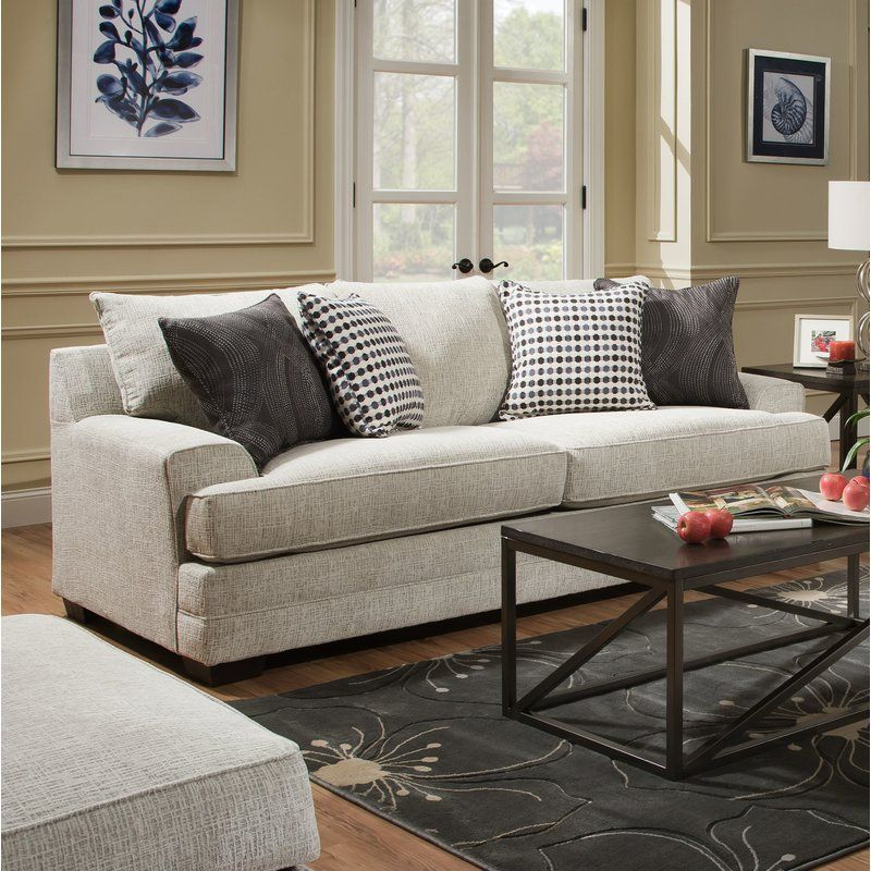 Henthorn Chenille 89 Quot Square Arm Sofa Sofa Bed Sofa