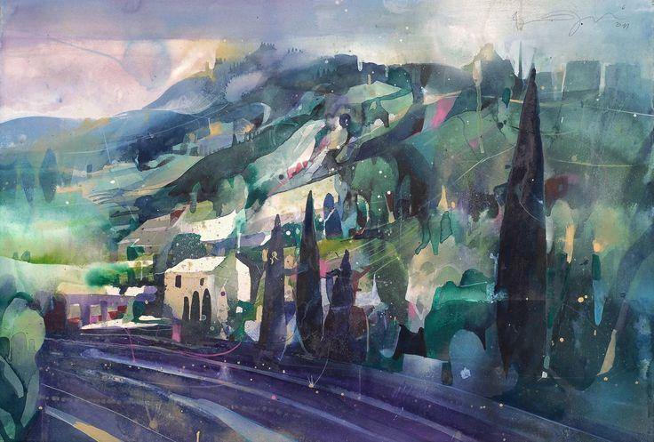 Bernhard Vogel Watercolors Bing Images Landscape Art
