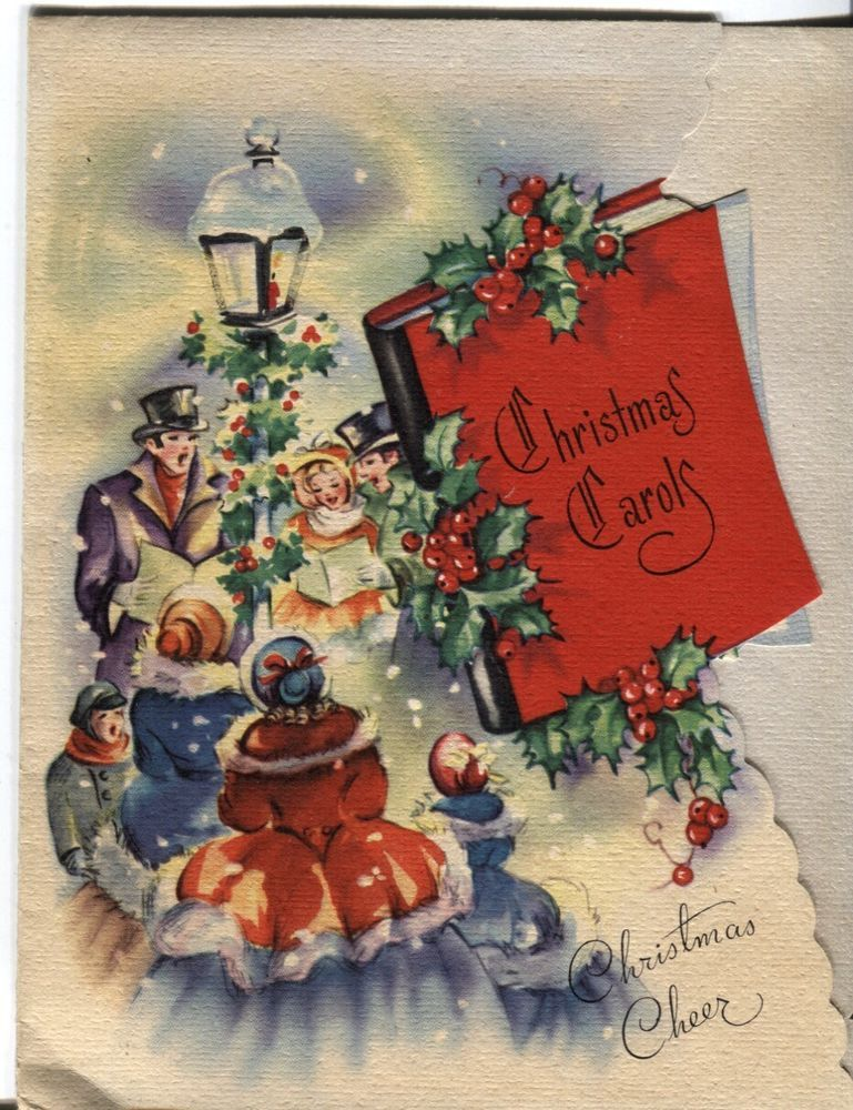 Vintage prize christmas card victorian carolers fold out music in vintage prize christmas card victorian carolers fold out music in collectibles ebay m4hsunfo