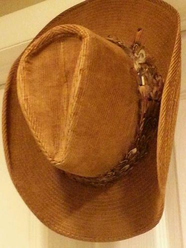 5f33337ec575b Vtg Men s Resistol Cattleking Tanbark Western Cowboy Hat Stetson ...