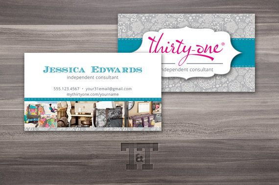 Pin By My Heart Has Ears On Business Goodies Gift Certificate Template Thirty One Gifts Business Card Maker
