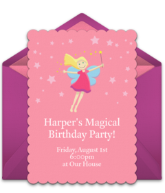 Online invitations from fairy tales online fairy invitations and customizable free fairy tale online invitations easy to personalize and send for a party filmwisefo