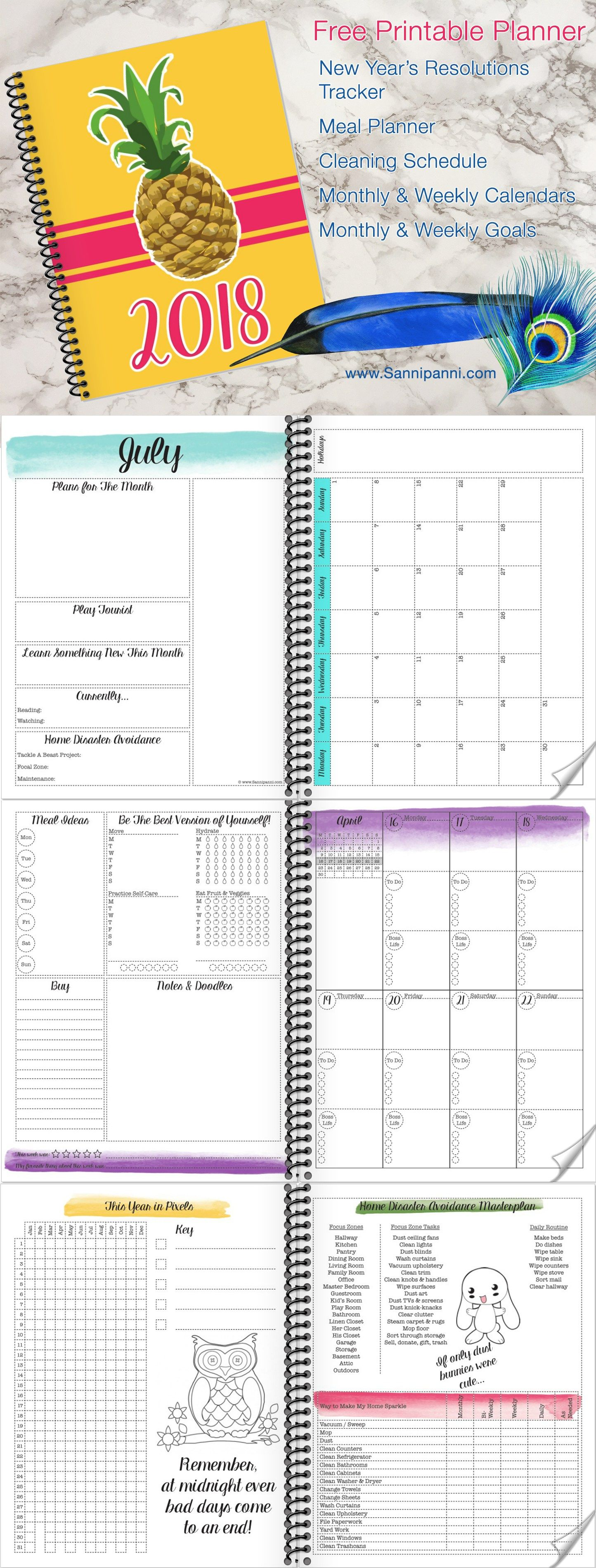 The Most Amazing Free Printable Planner For Includes Weekly And Monthly Spreads Goal