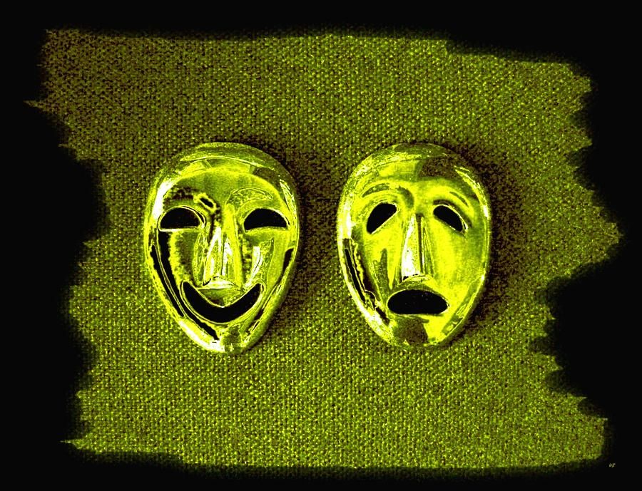 Digital Art - Comedy And Tragedy Masks 6 by Will Borden #affiliate , #AFFILIATE, #spon, #Comedy, #Borden, #Masks, #Art