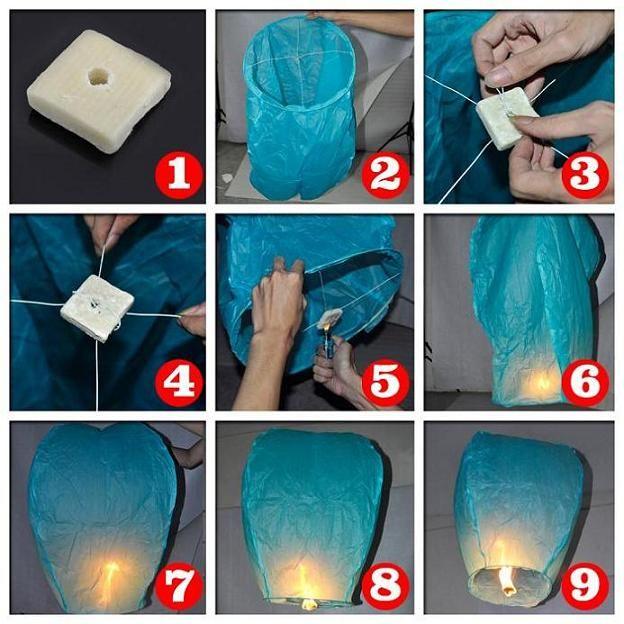 Sky lanterns how to make — photo 1