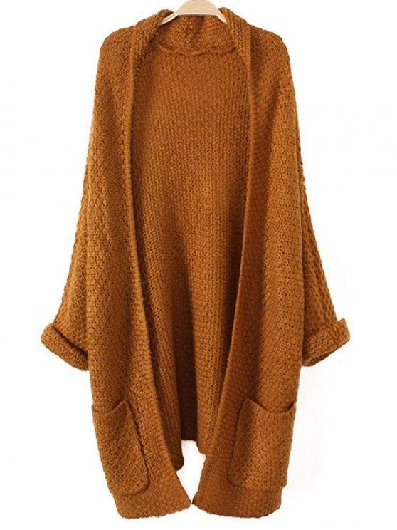 Chic Pockets Knitted Long Cardigan  17fc2b7b6