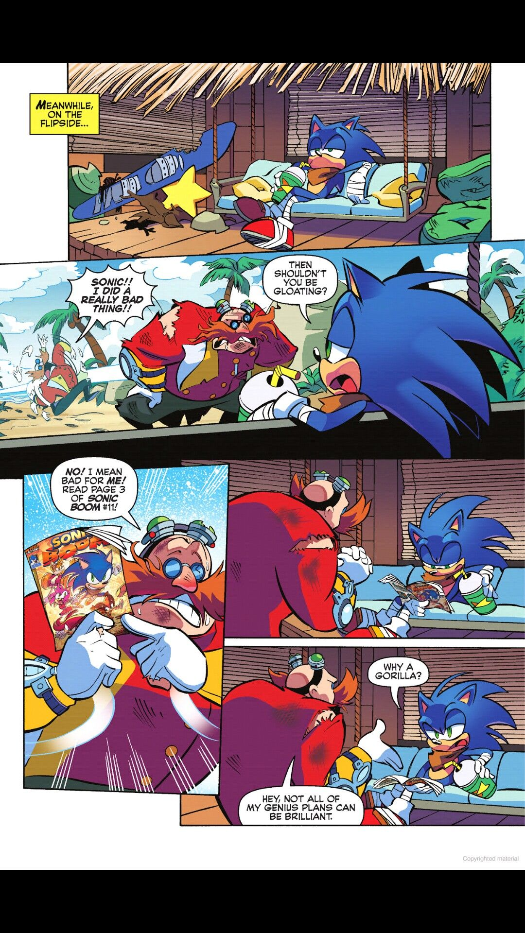 The Sonic S Comic In Sonic S Comic Wtf Sonic Boom Sonic Funny Sonic Nintendo