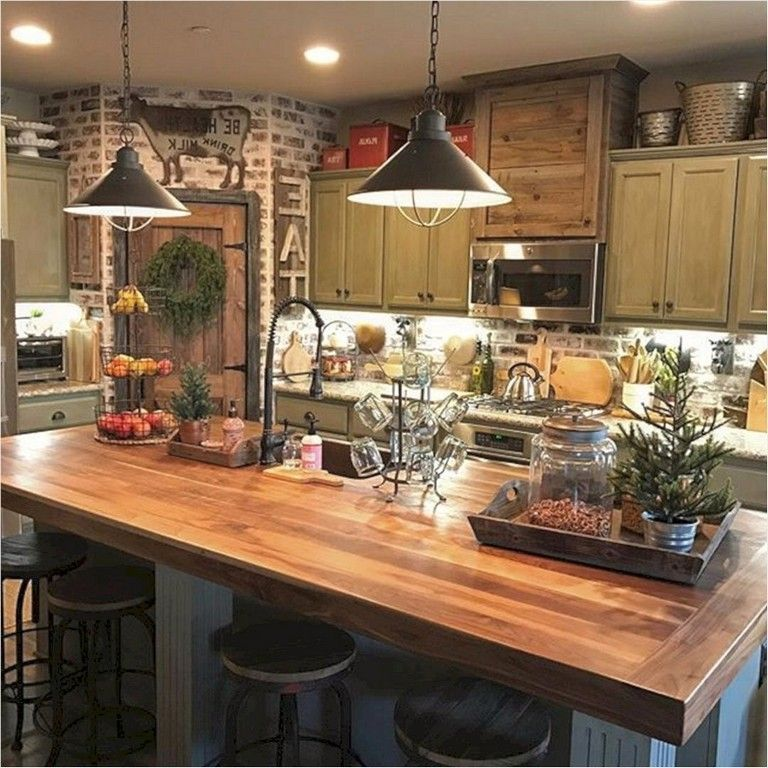 Best 43 Unique Farmhouse Small Kitchen Ideas That Will Amaze 400 x 300