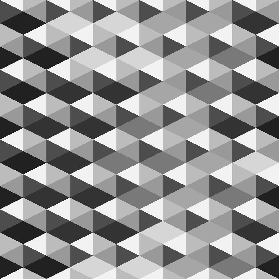Abstract Monochrome Geometric Pattern Is A Piece Of