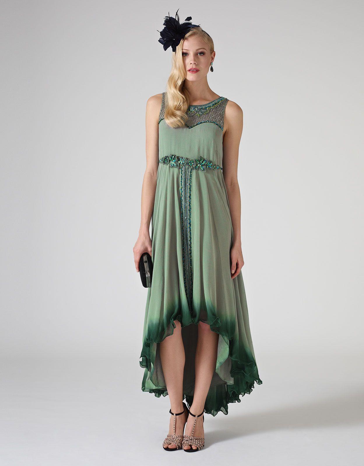 Eliana Dress | Green | Monsoon || I love the darker colour gradient ...
