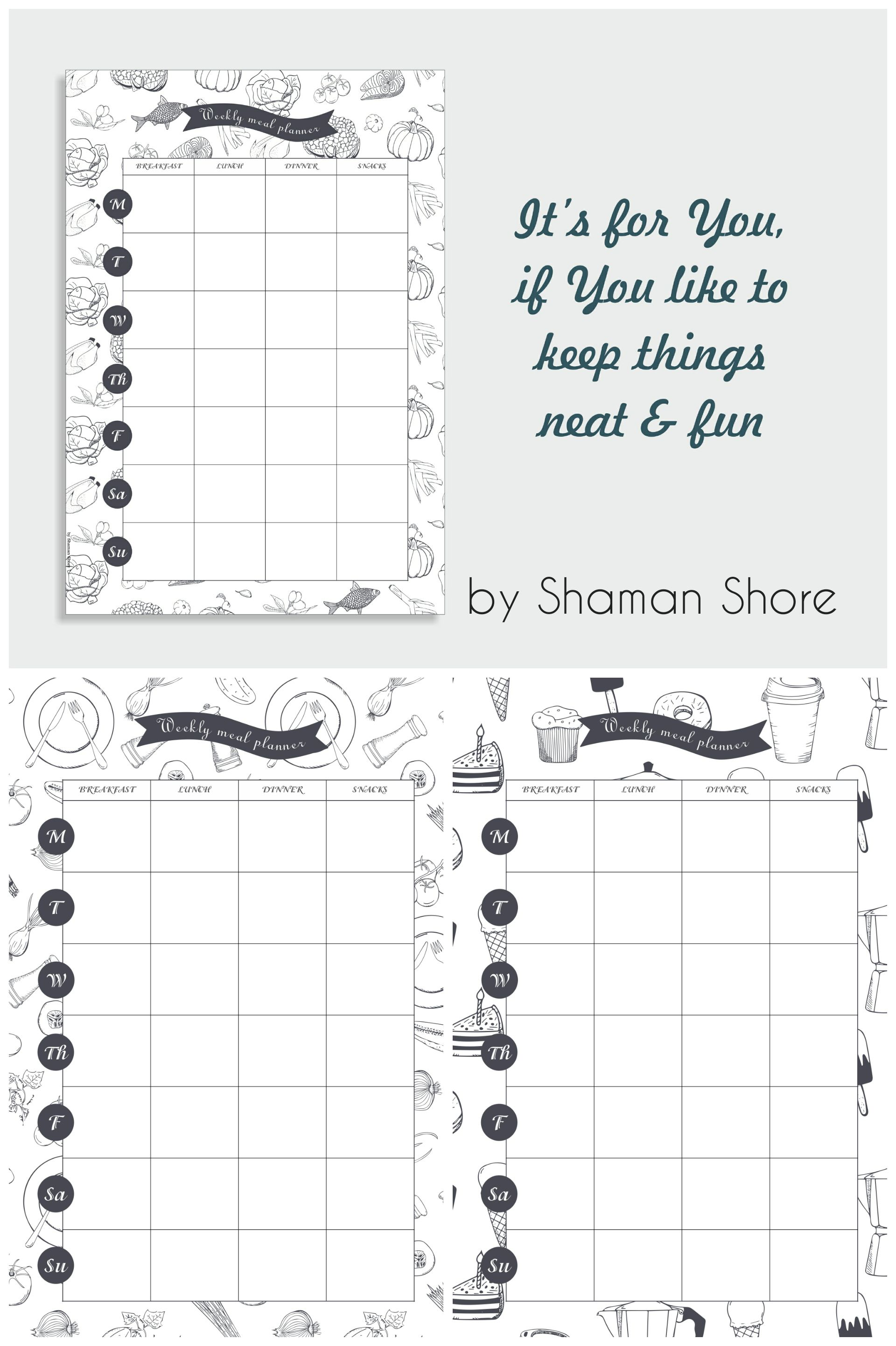 Daily Meal Planner Pdf A4 Meal Planning Download Meal Plan Sheets