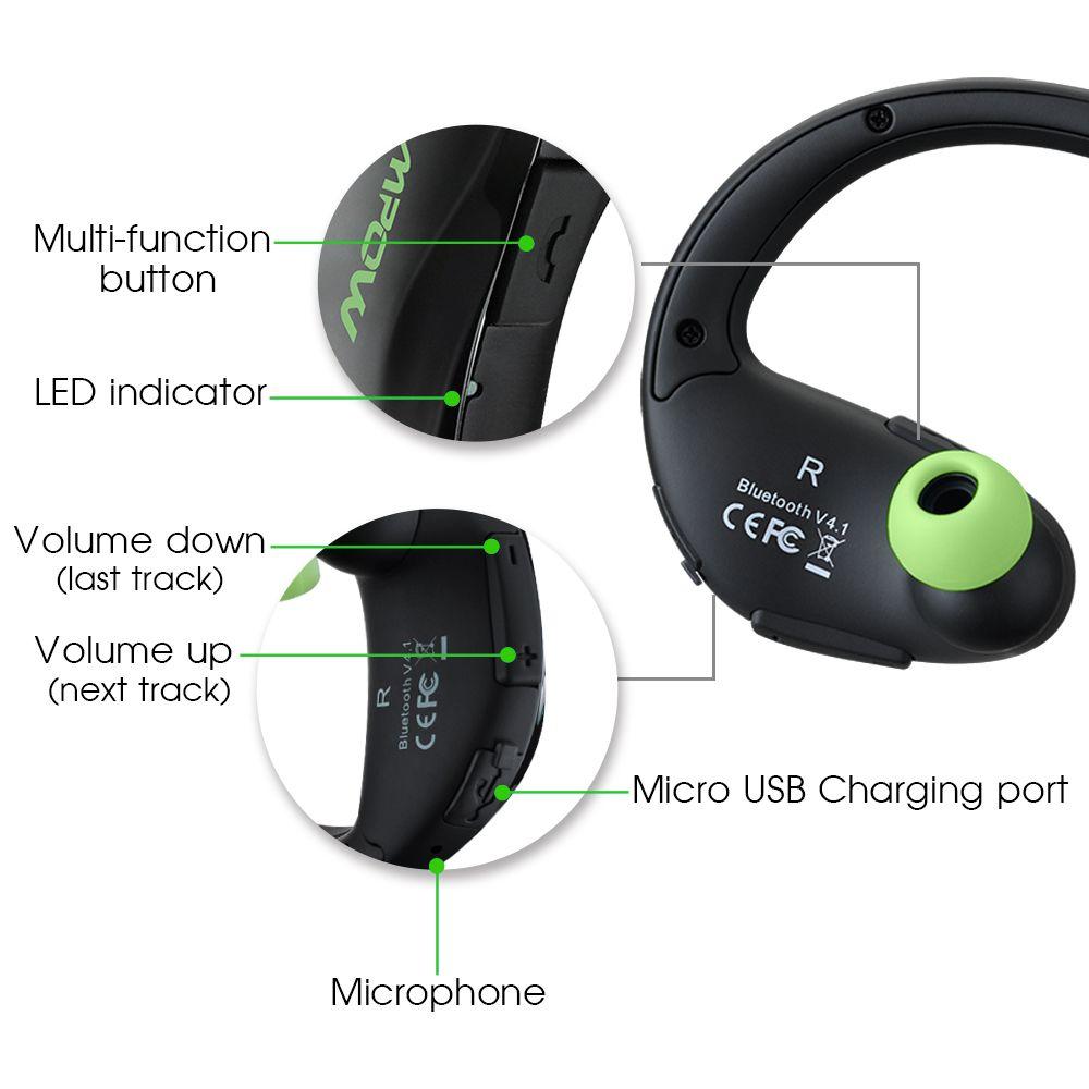 MPOW Cheetah Sports Bluetooth Earphone with Mic