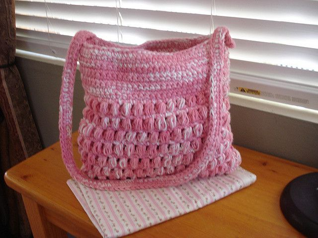Crochet Cluster Stitch Shoulder Bag Crochet Bag Pattern Crochet Cluster Stitch Crochet Bag