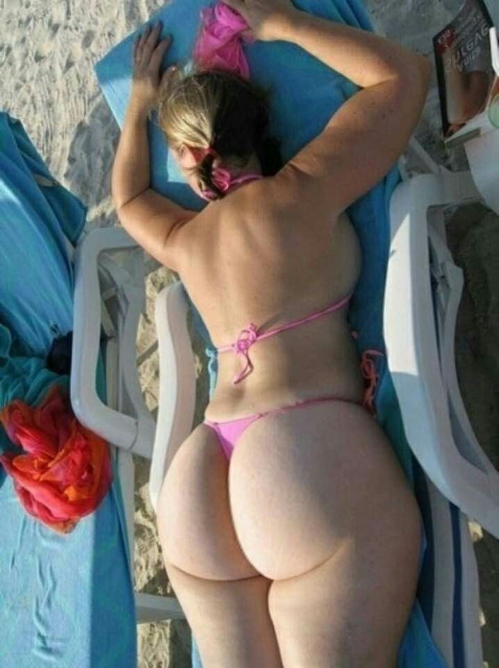 Mature shows chubby ass