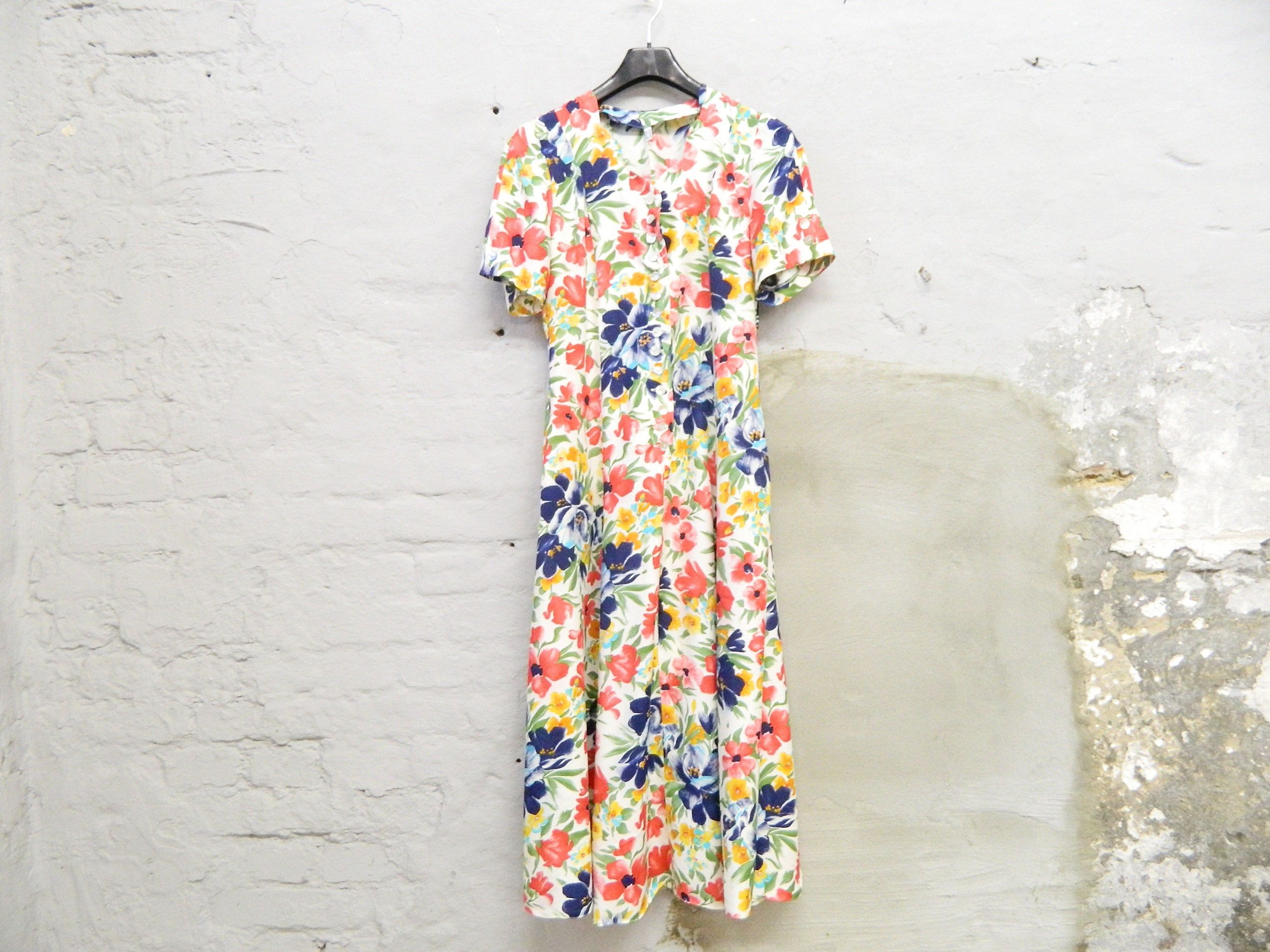 Romantic Dress / vintage Blumenkleid / Kleid geblümt / 14er  Etsy