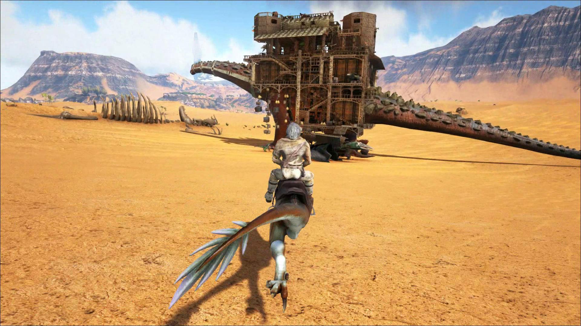 Ark, Titan Platform, Nomadic Base Design, The Desert Trader. Massive  Platform Base
