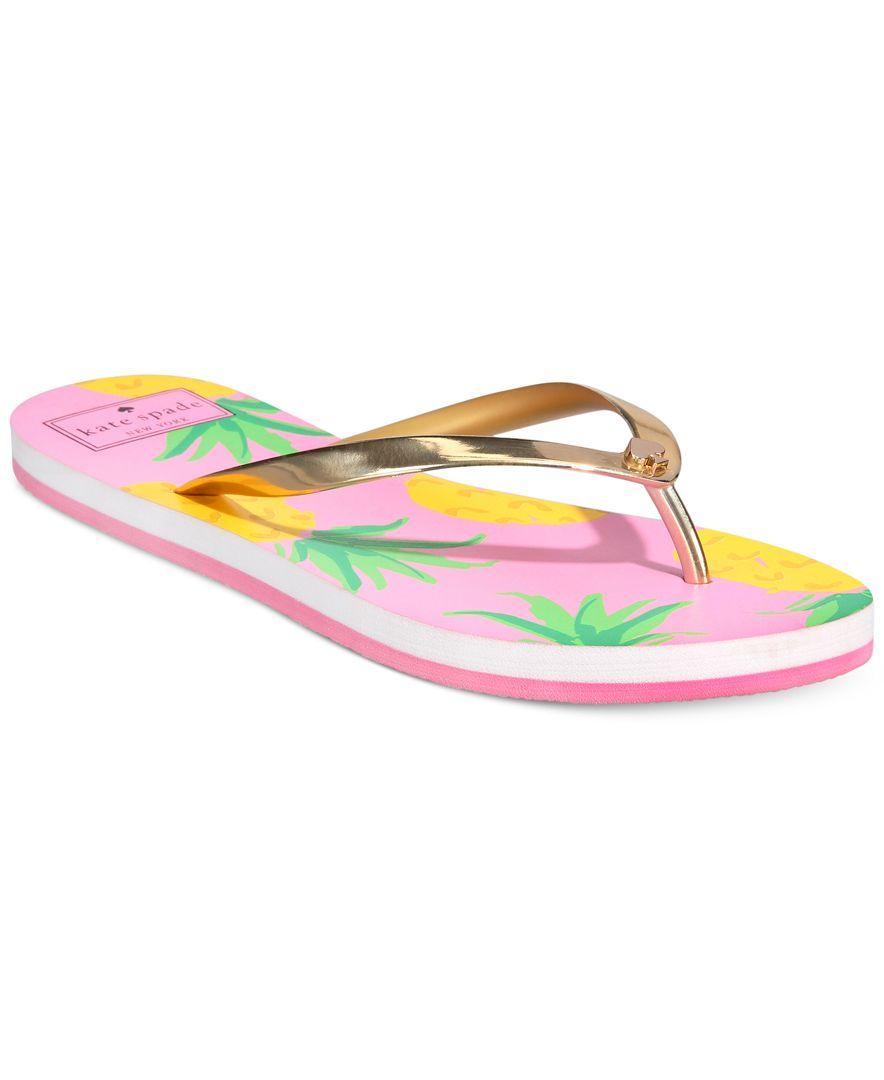 Kate Spade New York Nassau Pineapple Flip-Flop Sandals hqezu0G