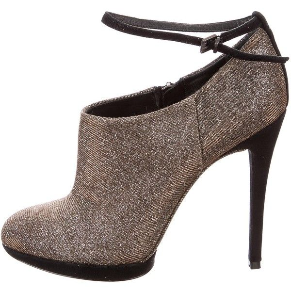 70a454140c6a Pre-owned B Brian Atwood Metallic Glitter Booties ( 125) ❤ liked on Polyvore  · polyvore.com · Gold BootsMetallic BootsShoes ...
