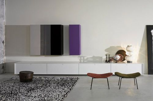 parete attrezzata soggiorno moderna THESIS Tisettanta ...