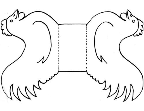 3d chicken template pdf papercrafts pinterest chicken chicken