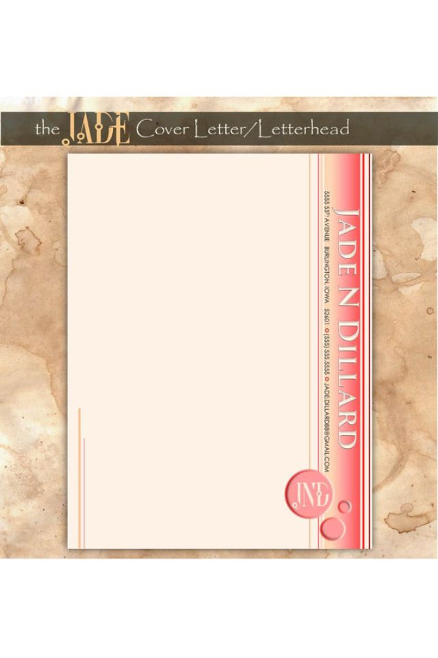 Personalized cover letter/letterhead by LADYjadeDESIGNS on Etsy The