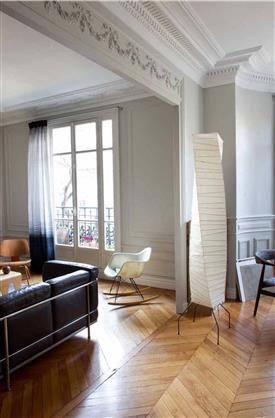 Déco salon blanc dans appartement haussmannien | Divers | Pinterest ...