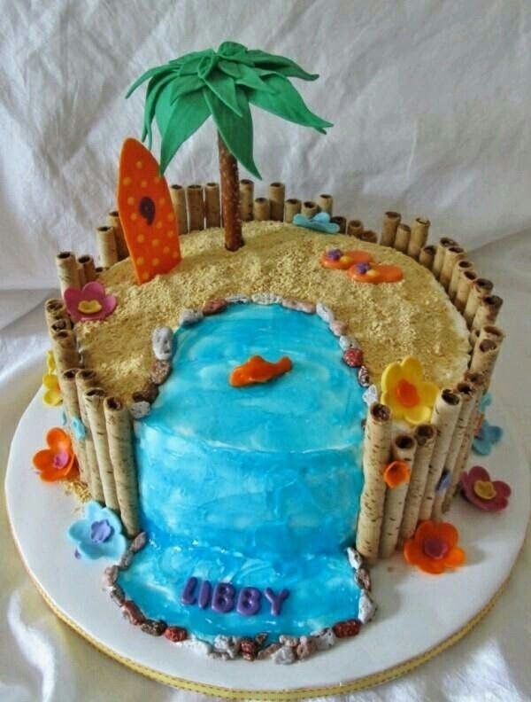 beach cake cake pinterest beach cakes cake and food. Black Bedroom Furniture Sets. Home Design Ideas