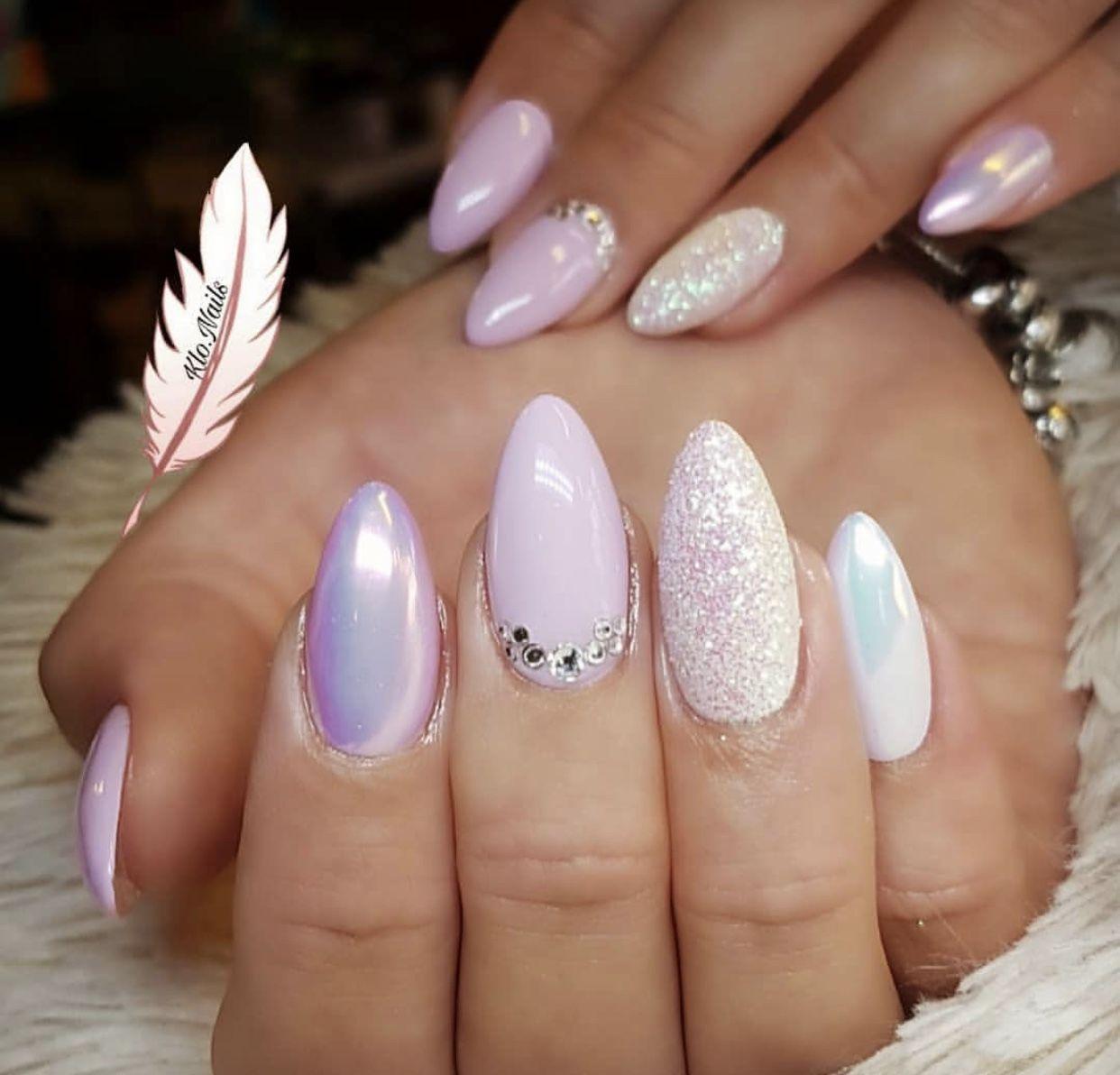 Pink and white Nail art, Nails, Fun nails