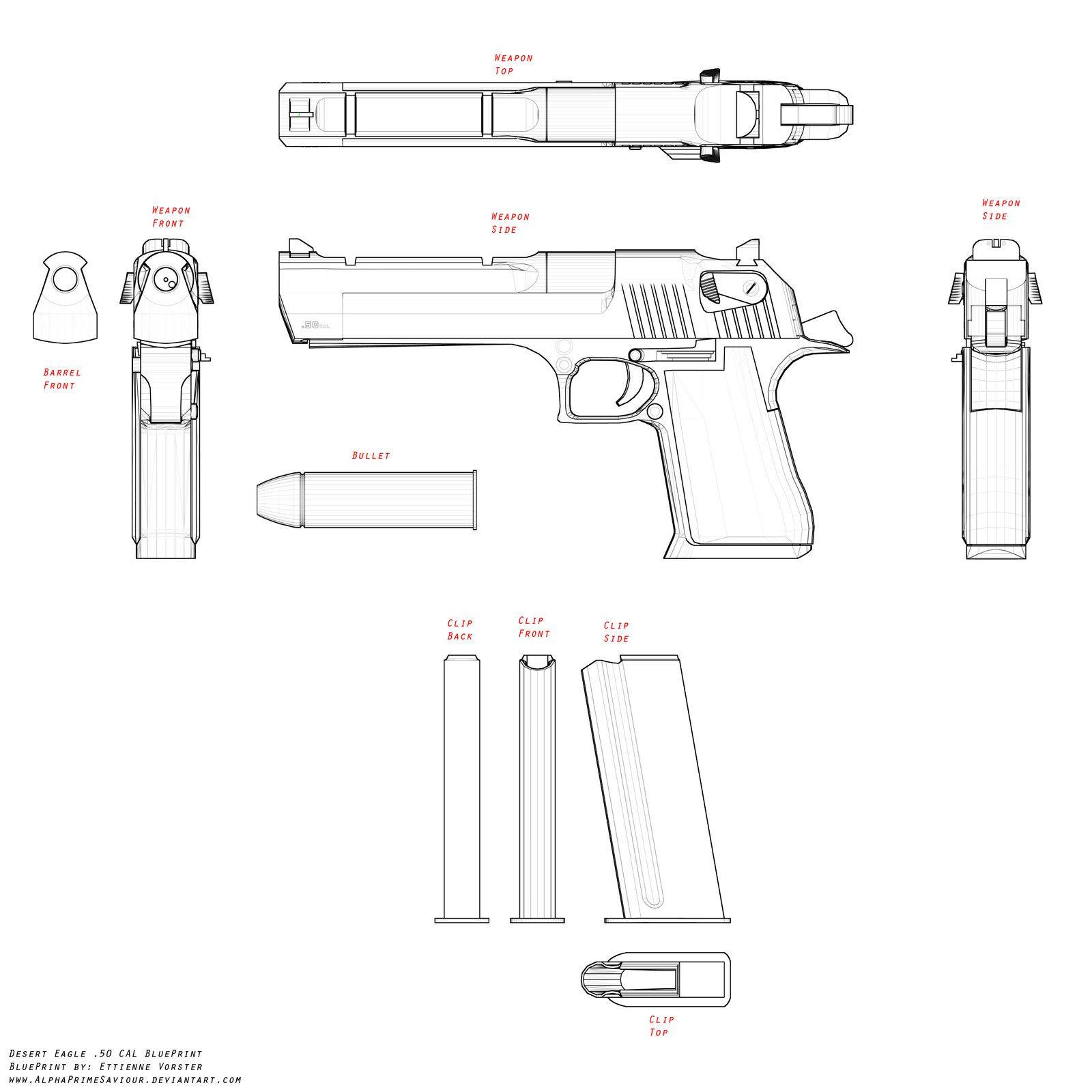 desert eagle blueprint by alphaprimesaviour deviantart com