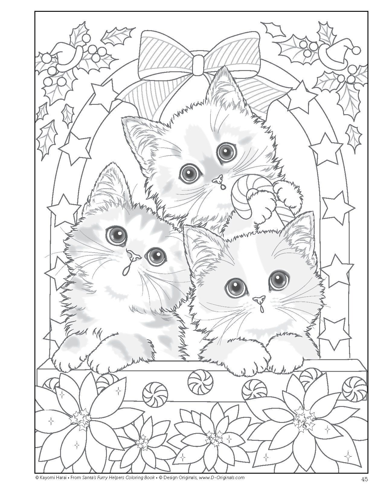 Katzen Ausmalbilder Für Erwachsene : Santas Furry Helpers Coloring Book Colouring Books Amazon De