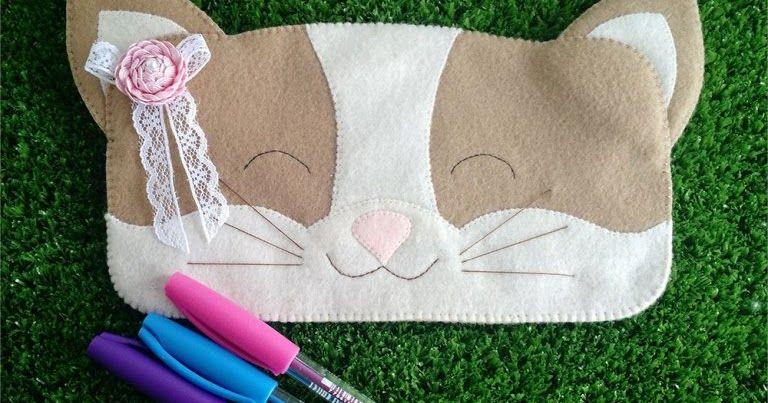 Estojo de gatinho com molde – Bolsa de moda