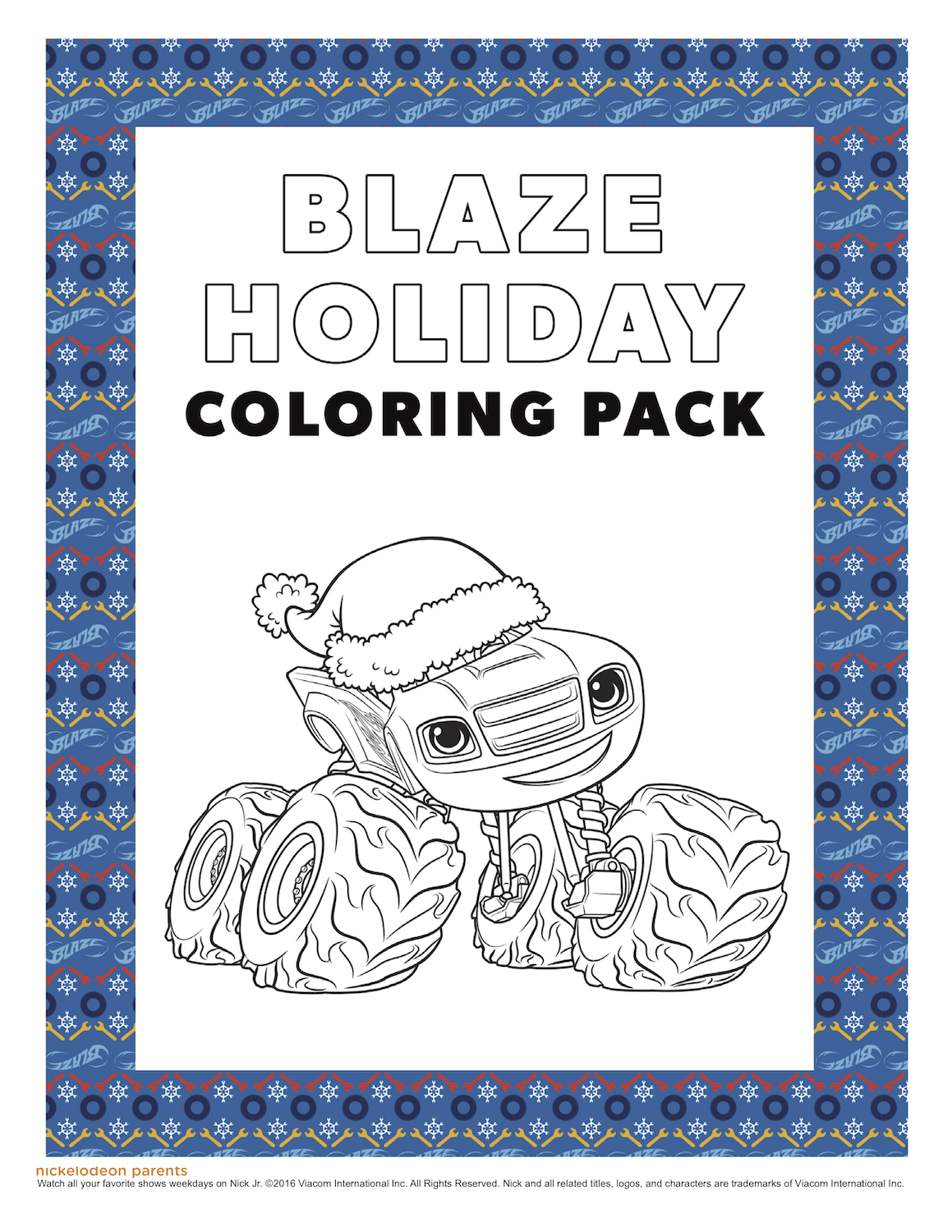 Free Blaze Holiday Coloring Pack Christmas Printable Snowman Coloring Pages Holiday Coloring Book Coloring Pages [ 1500 x 1159 Pixel ]