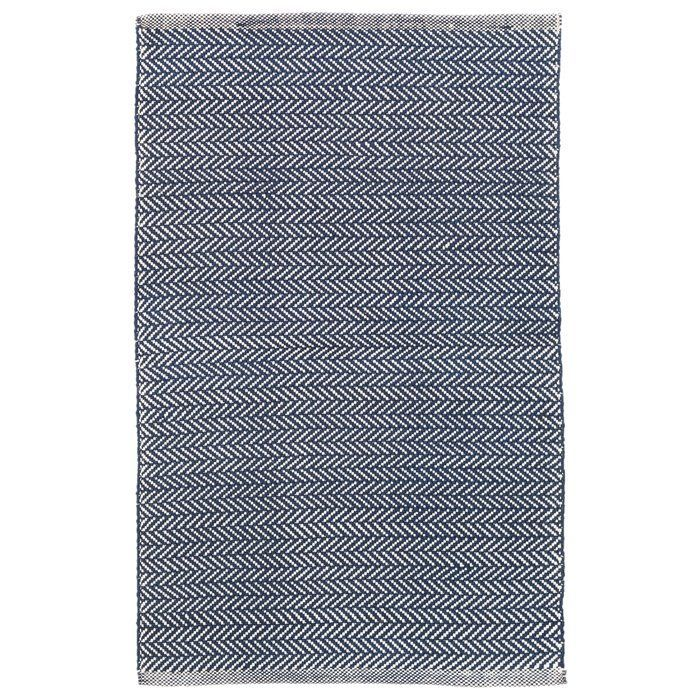 Awesome Made of durable polypropylene and featuring a classic herringbone pattern this navy rug is must New Design - Awesome herringbone pattern Idea