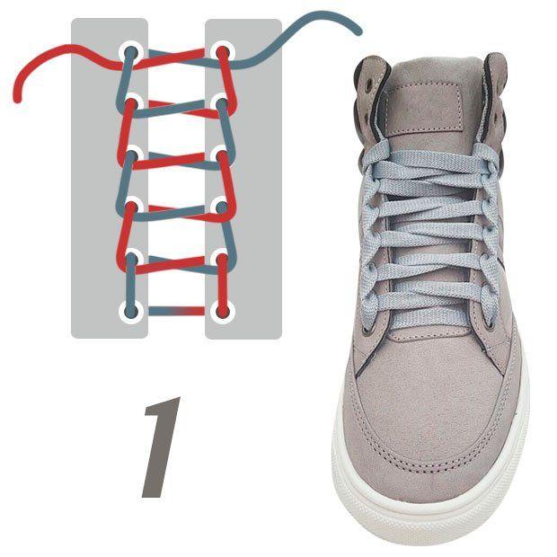10 originales formas de amarrar tus agujetas | Cordones para