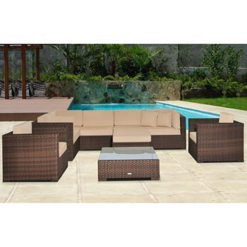 Good Atlantic 9 Piece Modular Patio Sectional Collection L From Costco.com.