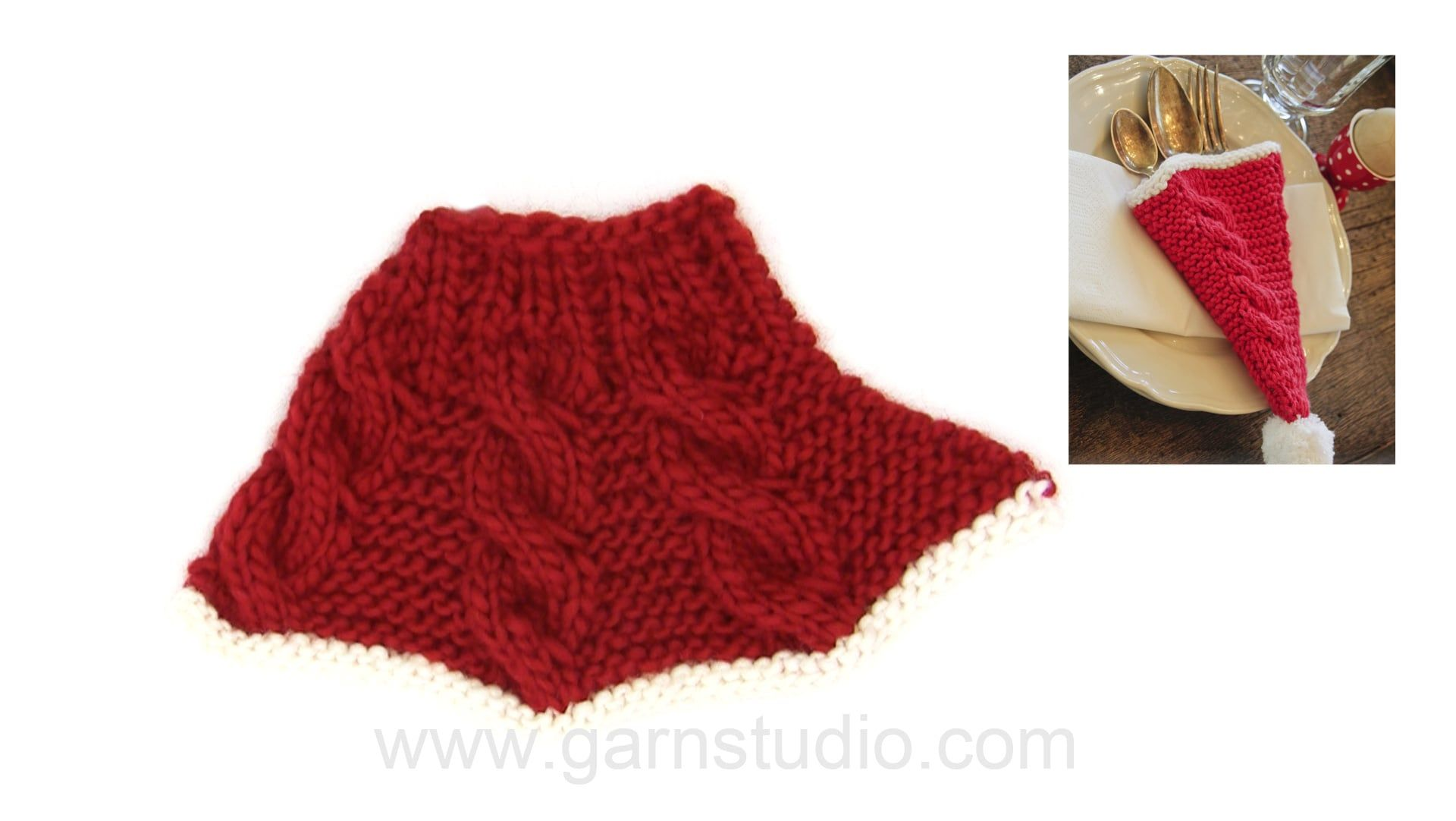 How to knit a cutlery holder Free knitted pattern DROPS Extra 0-1062 ...