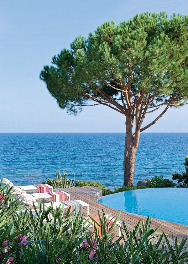 Une maison de vacances au bord de la m diterran e piscines swimming pool pinterest - Maison de la mediterranee ...