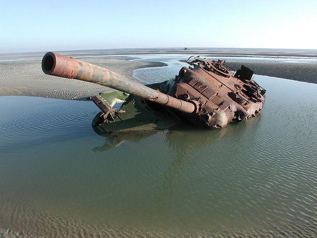 Abandoned Leopard I tank in Vlieland, Friesland, Netherlands by Dirk Bruin, via Flickr
