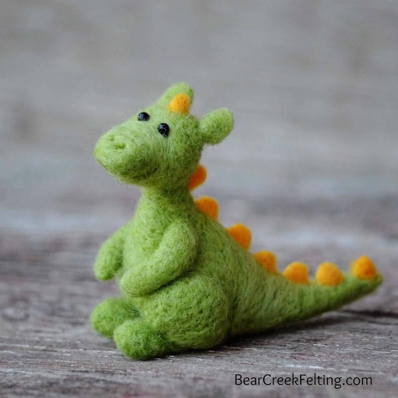 Dragon Felting Kit - Needle Felting Kit - DIY Kit - Craft Kit - Felting Supplies - DIY Craft Kit - Starter Kit - Needle Felted – Beginner