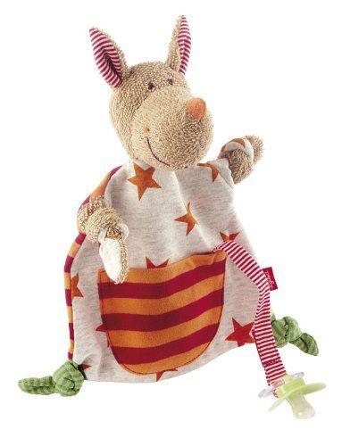sigikid, Mädchen und Jungen, Schnuffeltuch Känguru, Honey Stripes ...