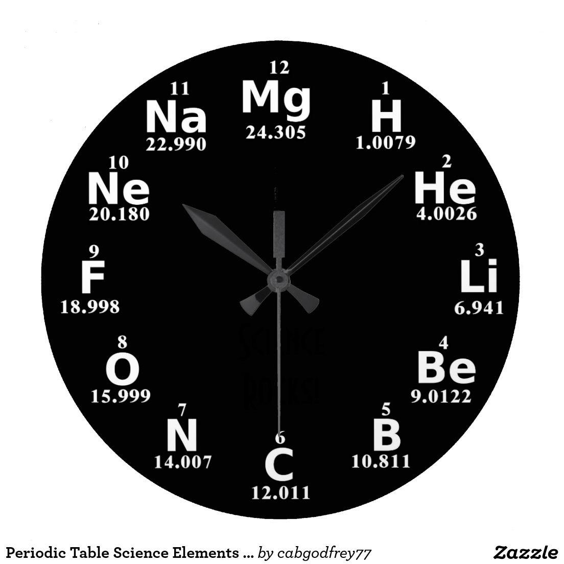 periodic table science elements custom wall clock