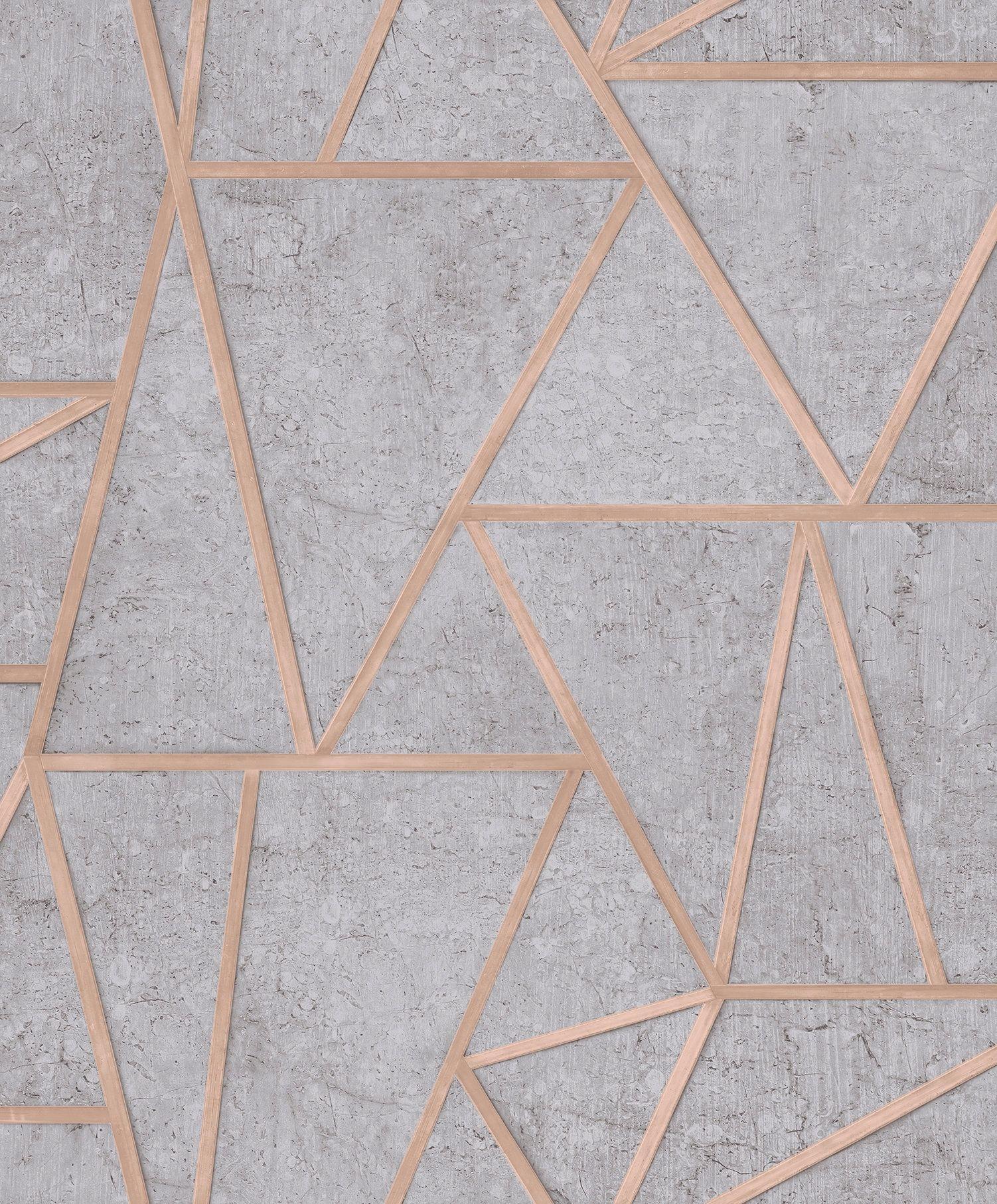 Tapeta Tapety Wzor Geometryczny Z Efektem 3d Szara Grey Wallpaper Wall Coverings Pattern Wallpaper