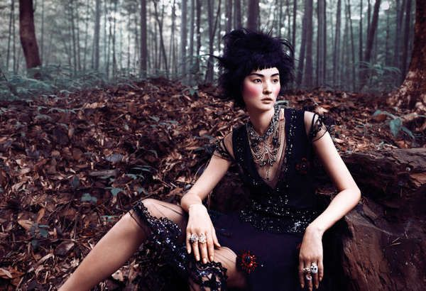 Doll-Like Forest Fashion - The ELLE Vietnam 'Lost Heaven' Editorial Stars a Whimsical Miao Bin Si